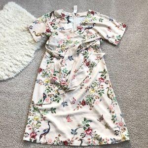 Silk floral kimono style dress